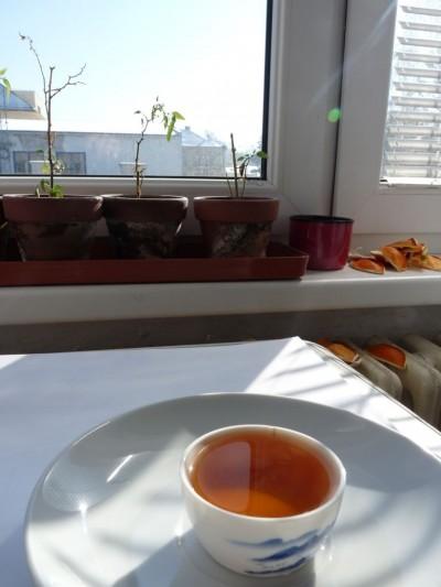 2010 Shui Hsien Traditional - nálev a pomeranče, téměř stejná barva! :)
